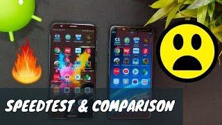 Speedtest & Comparison Honor 7X VS Oppo Realme 1 (4K)