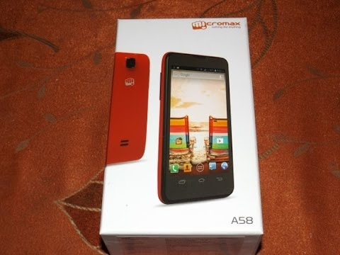 Micromax A58 Unboxing & Hands On  ( The ultra Low budget Performer )