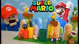 Super Mario Bros Acorn Plains Figure PLAYSET unboxing!! Mario Party 2019
