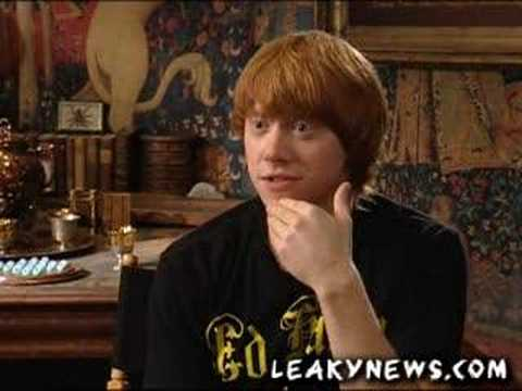 Rupert grint answers aol user questions- funny