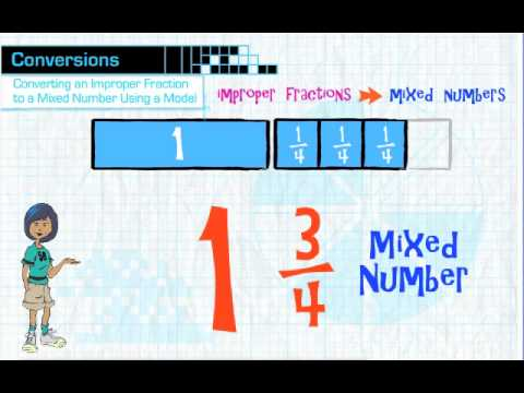 Converting Improper Fractions to Mixed Numbers - YouTube