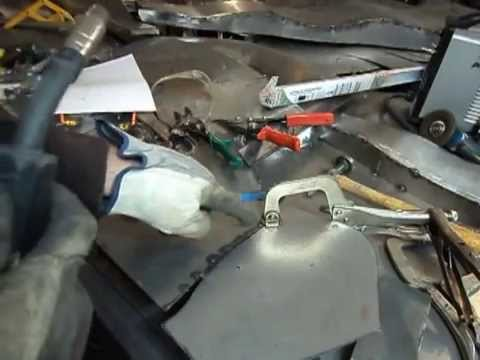 Butt Welding Sheet Metal With A Mig Welder Youtube