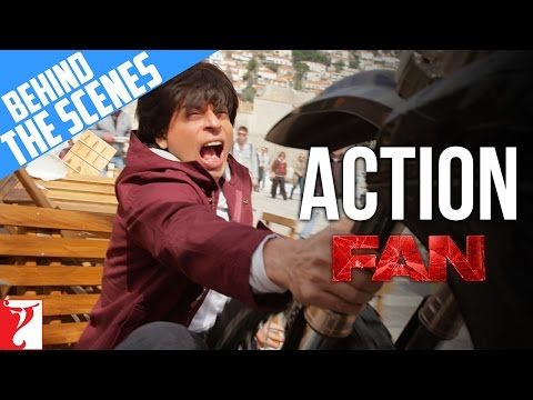Behind The Scenes Action | FAN | Shah Rukh Khan