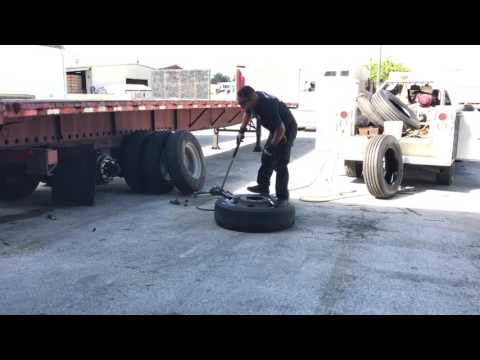 Changing a truck tire (Full video)