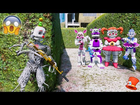 CAN ENNARD HIDE FROM THE EVIL SISTER LOCATION ANIMATRONICS? (GTA 5 Mod For Kids FNAF RedHatter)