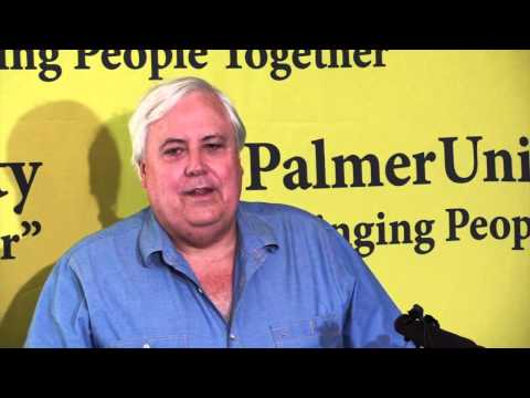 Clive Palmer Media Conference 18 August 2014