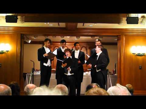 The Cole Porter Centennial Whiffs sing at Branford College, Yale University, 9-27-12