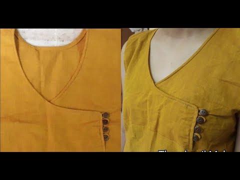 Angrakha Choli Pattern Cutting & Stitching / DIY 2018