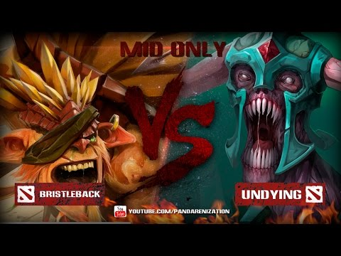 Bristleback VS Undying [Битва героев Mid only] Dota 2
