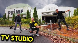 EXPLORING ABANDONED NEWS STATION (w/ Elton & Corey)