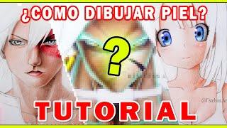 ? Los SECRETOS para COLOREAR PIEL Anime ?Con colores ESCOLARES   TUTORIAL - Esteban Arts