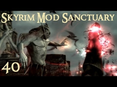 Skyrim Mod Sanctuary 40 : Better Vampires. Bat Travel Vampire Lord power and Predator Vision