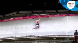 La fuerte caída de Emily Sweeney en Luge | Día 4 | Juegos Olímpicos Invierno 2018 | Marca Claro