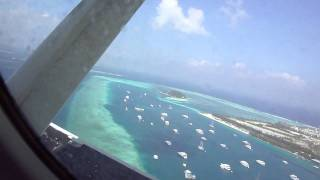 Maldives air taxi takeoff and landing