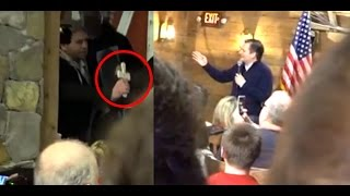 Protester Tries To Perform Exorcism On Ted Cruz In New Hampshire