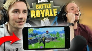 FORTNITE OP IPHONE TEGEN PC!! - Fortnite Battle Royale DUOS met LinkTijger (Nederlands)