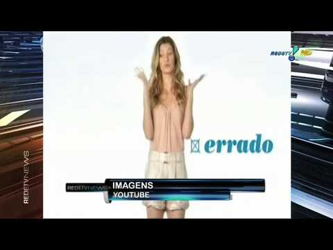 Comercial com Gisele Bundchen gera polmica (Fonte: Rede TV News 29 Set 11).mov