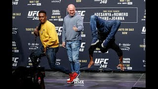 UFC 248: Israel Adesanya, Yoel Romero Have Dance Off After Staredown - MMA Fighting