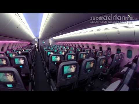 Qatar Airways Dreamliner Boeing 787 - Singapore Airshow 2014