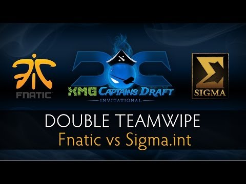 Dota 2 Double Teamwipe - Fnatic vs Sigma.int - The XMG Captains Draft Invitational