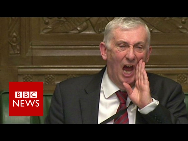 Deputy speaker's fury at SNP Brexit singing - BBC News