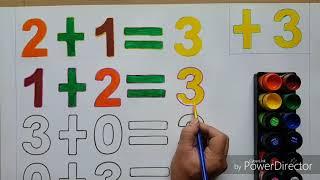 #128 Bé học toán - Bảng cộng phạm vi 3_Maths for kids