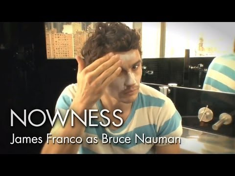 """James Franco as Bruce Nauman"" from Alison Chernick"