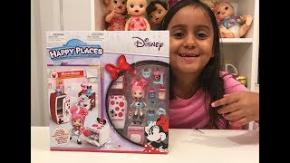 Abrindo Playset Shopkins happy places DISNEY Minnie mouse