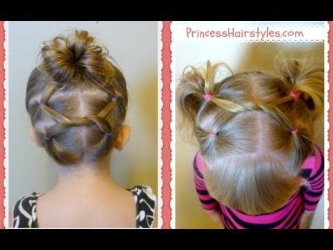 shoelace knot hairstyles for gymnastics and sports   youtube