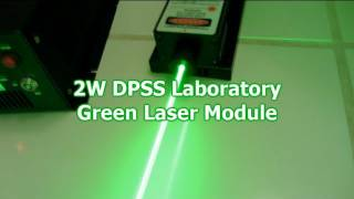 2000mW GREEN Laser Destroying Stuff!