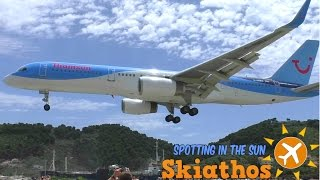 Skiathos - Plane Spotting In The Sun | Day 1 - Thomson Tuesday | Crazy jet blast and low landings