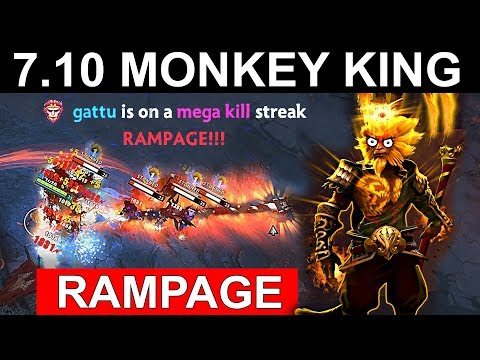 NEW MONKEY KING PATCH 7.10 DOTA 2 NEW META GAMEPLAY #38 (RAMPAGE MONKEY KING)