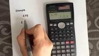 How to convert from a decimal to a fraction using the calculator Casio fx-991MS