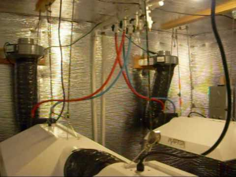 4000w Grow Room Liquid Cooled Wmv Youtube