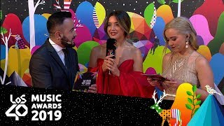 Lola Índigo: ¿prefería ganar en solitario o con Aitana? | Red Carpet LOS40 Music Awards 2019