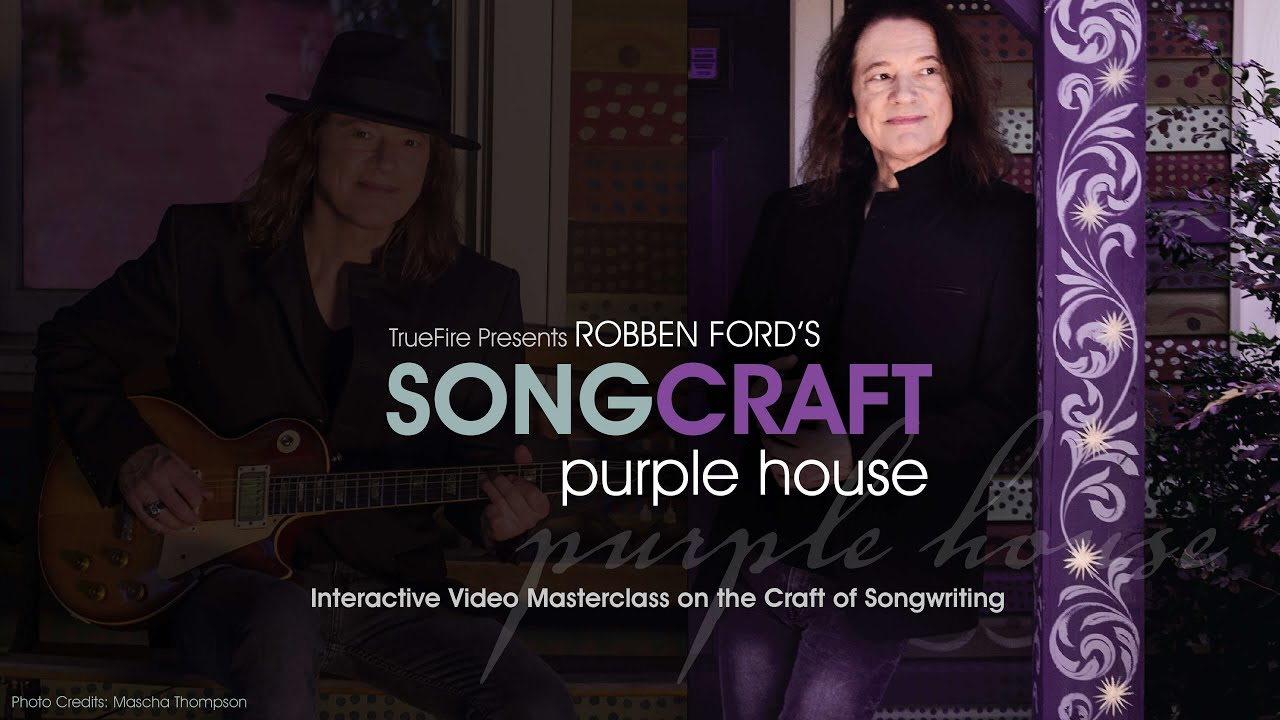 "Robben Ford - TrueFireが""Bound for Glory""のギターレッスン映像約35分を公開 アルバム「Purple House」収録曲 thm Music info Clip"