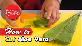 Anoma's Kitchen - How to Cut Aloe Vera - Episode 809