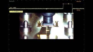 ハイスピードカメラ+データロガー 「ICチップの搬送」
