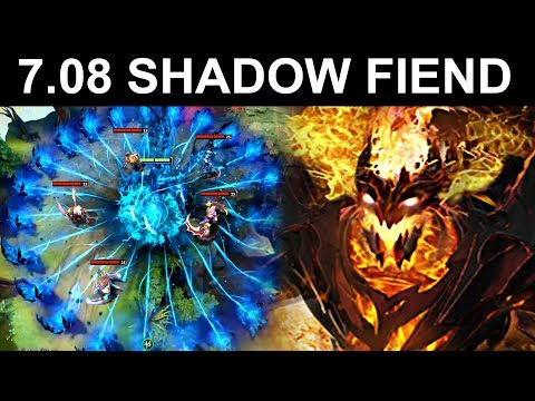 NEW SHADOW FIEND PATCH 7.08 DOTA 2 NEW META GAMEPLAY #13 (FUNNY MOMENTS SF)