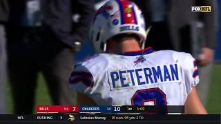 Nathan Peterman Throws 5 INTs in First Half of First NFL Start | Bills vs. Chargers | NFL Wk 11