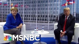 President Trump Meets With Chancellor Merkel After Criticizing Germany | Hallie Jackson | MSNBC