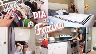 FAXINA NA CASA TODA   ORGANIZANDO CLOSET   ALMOÇO DE FDS