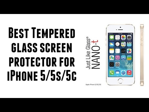 The Best Tempered Glass Screen Protector for iPhone 5/5s/5c - Just Like Glass Nano-t
