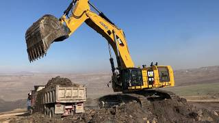 Cat 6015B Excavator Loading Trucks And Operator View - Sotiriadis Brothers