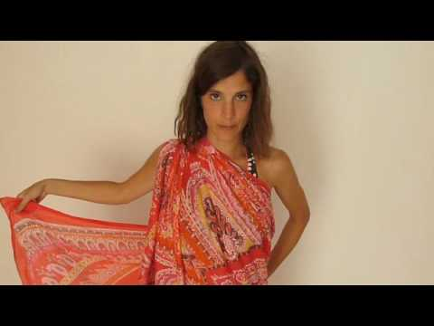 Formas de ponerse un pareo 2 / Ways to wear a shawl 2