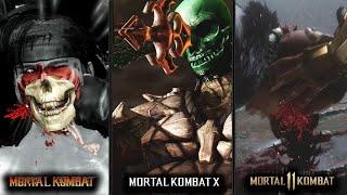 All Mortal Kombat X-Rays/Fatal Blows Comparison (MK9, MKX, & MK11)