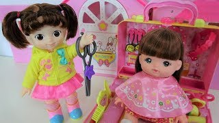 Baby doll's strawberry hairdresser / Barbie hair cut · Licca chan