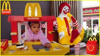 McDonald's Drive Thru Prank  Kids Fun Pretend Play Toy McDonald's Kitchen Set