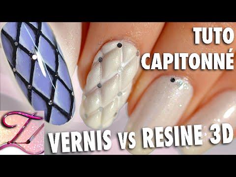 Tuto nail art capitonné : version résine 3D + vernis facile