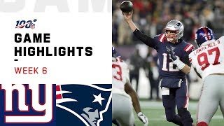 Giants vs. Patriots Week 6 Highlights  NFL 2019